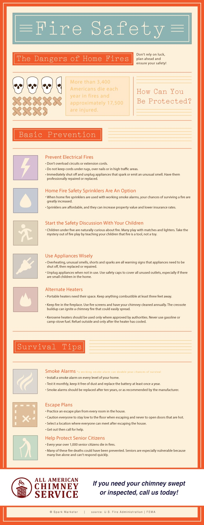 Fire Safety Infographic Louisville Ky All American Chimney Service
